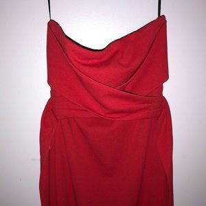 Lulu s Dresses - Own The Night Red Strapless Maxi Dress bd607d57a
